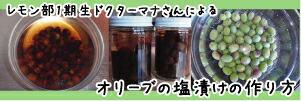 自家製オリーブ塩漬けの作り方